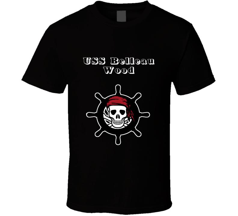 USS Belleau Wood Trending Skull Pirate Ship T Shirt