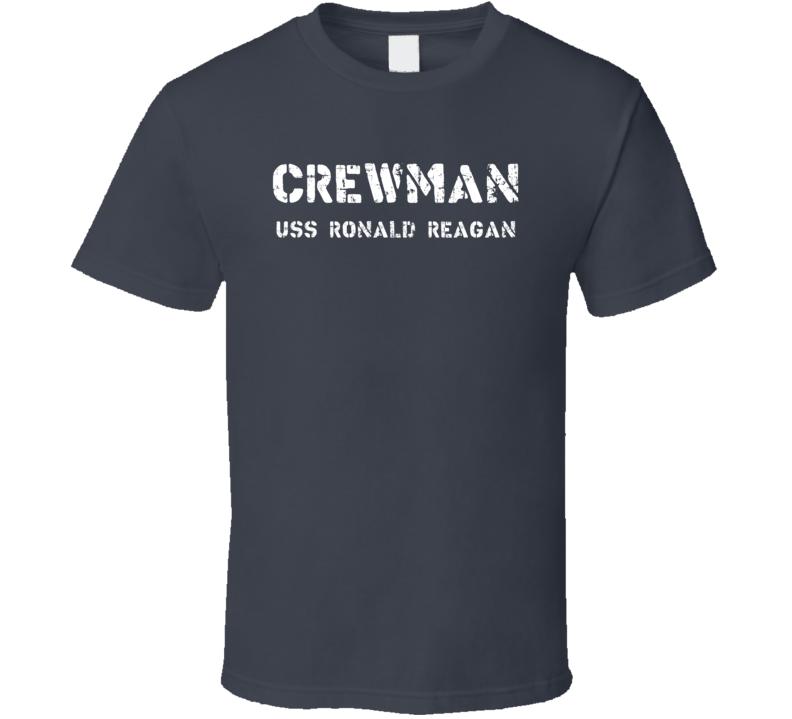 Crewman USS Ronald Reagan US Navy T Shirt