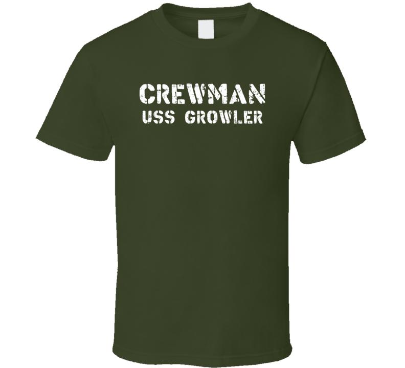 Crewman USS Growler US Navy T Shirt