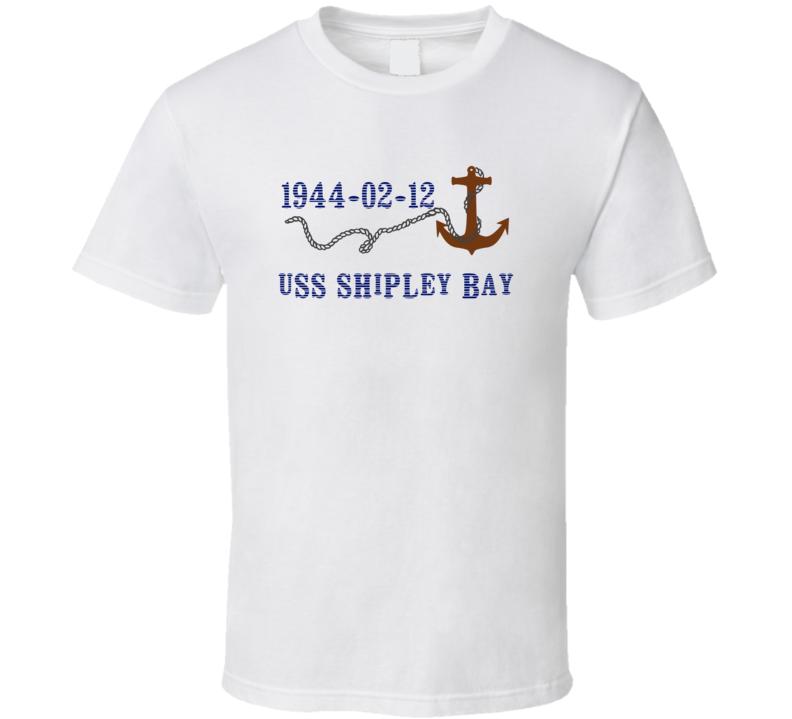 USS Shipley Bay 16114 Anchor Navy Ship TShirt