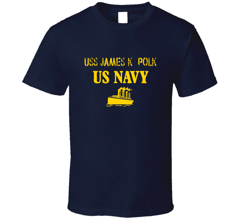 USS James K. Polk US Navy Ship Crew T Shirt