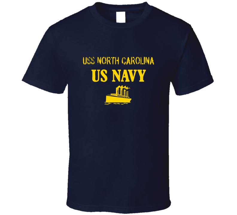 USS North Carolina US Navy Ship Crew T Shirt
