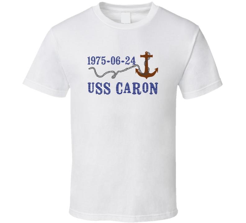 USS Caron 27569 Anchor Navy Ship TShirt