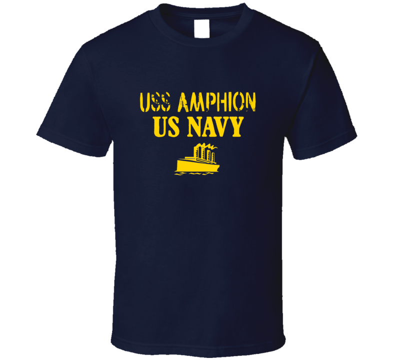 USS Amphion US Navy Ship Crew T Shirt