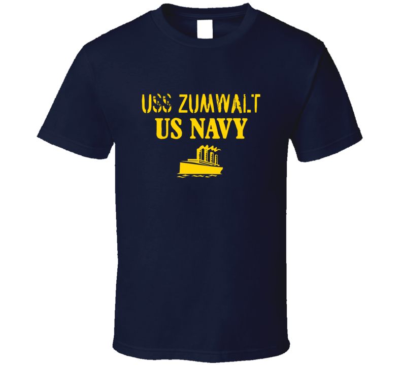 USS Zumwalt US Navy Ship Crew T Shirt