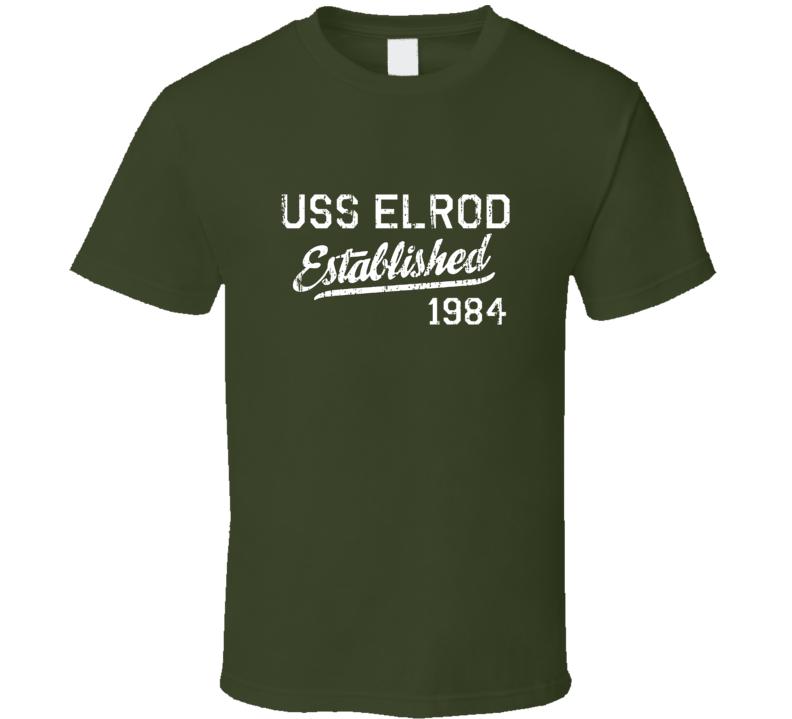 USS Elrod Established 1984 US Navy Grunge T Shirt