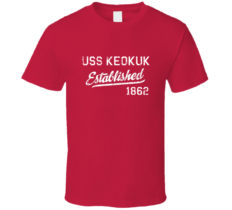 USS Keokuk Established 1862 US Navy Grunge T Shirt