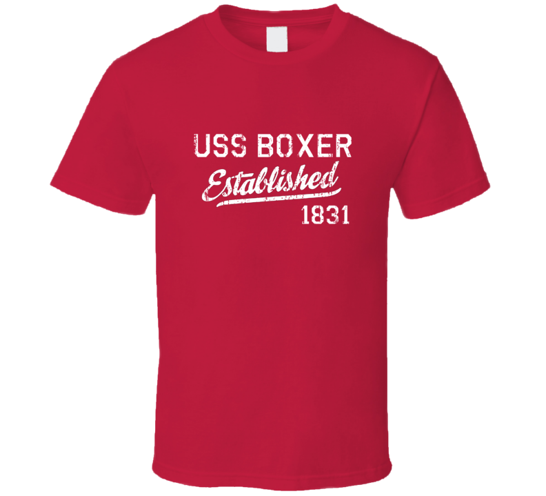 USS Boxer Established 1831 US Navy Grunge T Shirt