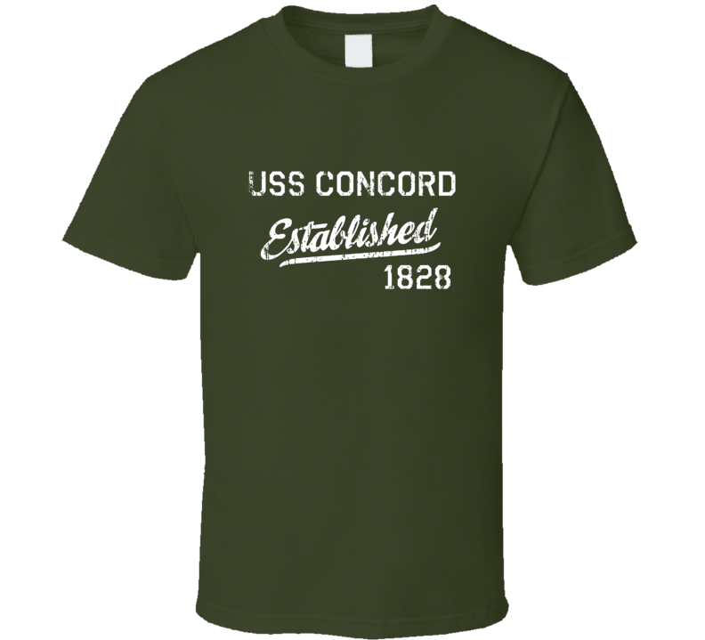 USS Concord Established 1828 US Navy Grunge T Shirt