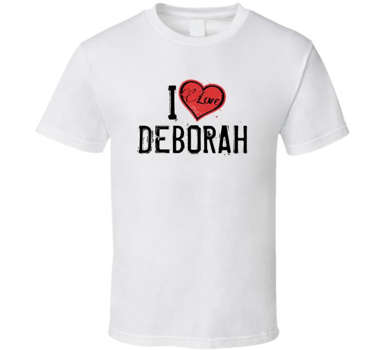 Deborah Love Heart Cool Trending Custom Name Valentines Gift T Shirt