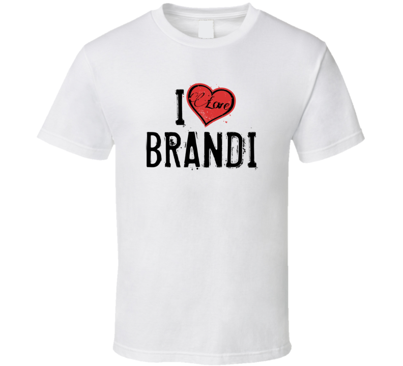 Brandi Love Heart Cool Trending Custom Name Valentines Gift T Shirt