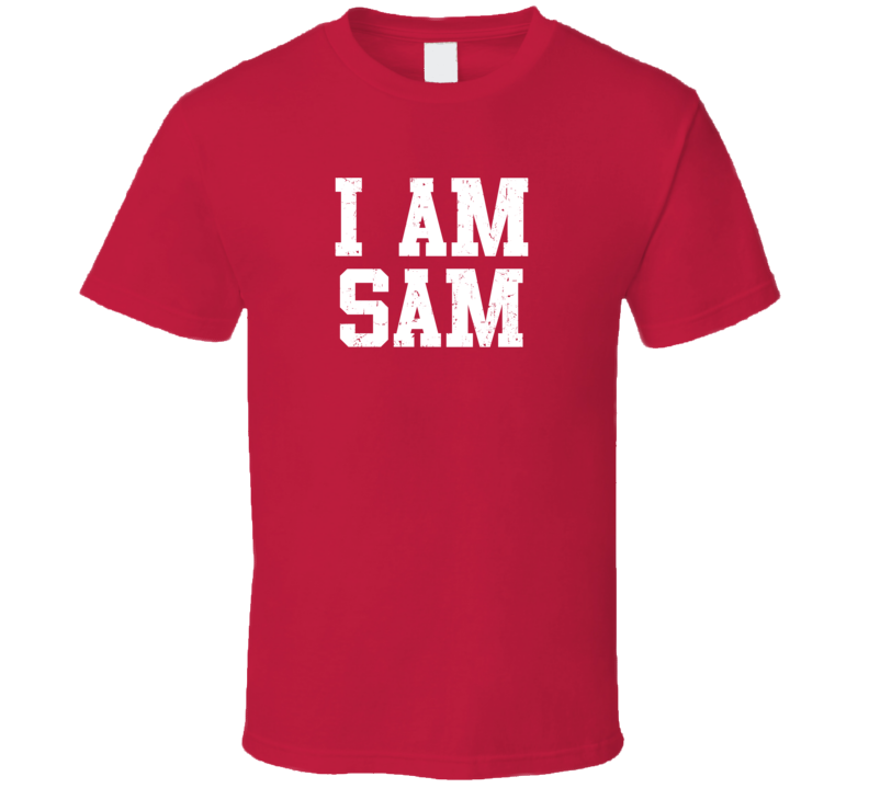 I Am Sam If Lost Return To Husband Wife Couple Funny Valentines Gift T Shirt
