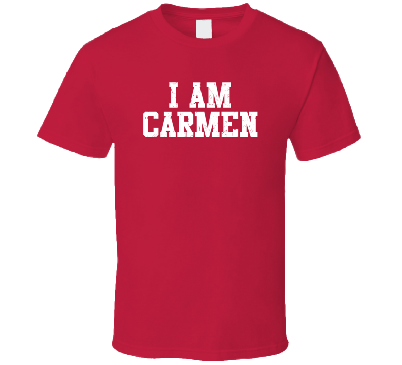 I Am Carmen If Lost Return To Husband Wife Couple Funny Valentines Gift T Shirt