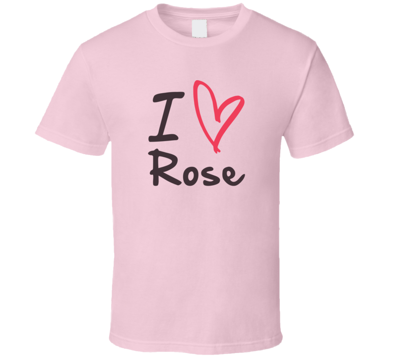 Rose Love Heart Valentines Day Cute Custom Name Trending T Shirt