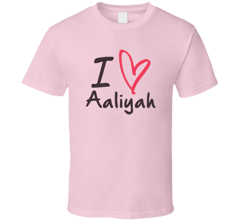 Aaliyah Love Heart Valentines Day Cute Custom Name Trending T Shirt