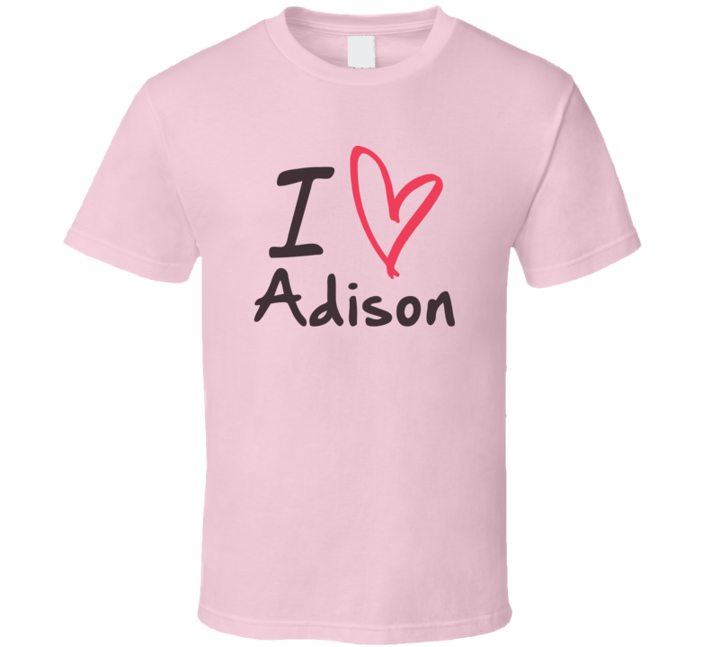 Adison Love Heart Valentines Day Cute Custom Name Trending T Shirt