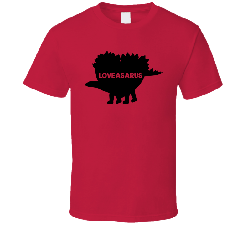 Loveasaurus Funny Cute Valentines Day Dinosaur T Shirt
