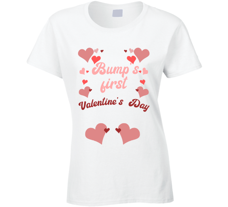 Bumps First Valentines Day Cute Pregnancy T Shirt