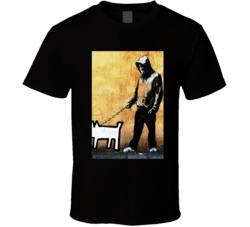 Banksy Walking Dog T Shirt
