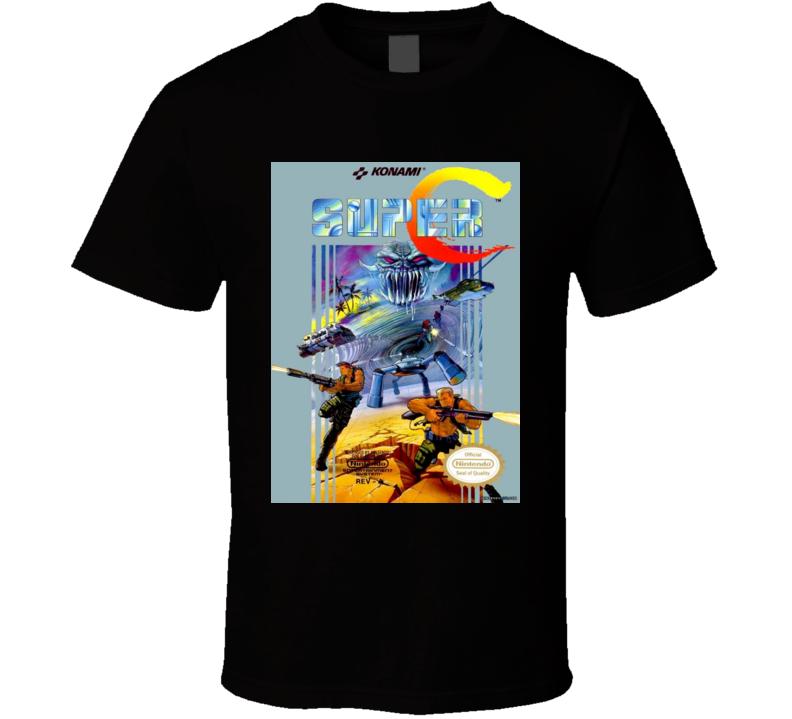 Super C Contra NES Cover T-Shirt