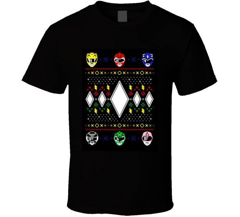 power rangers ugly christmas shirt t-shirt