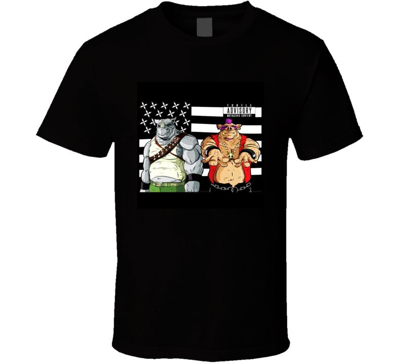 tmnt beebop and rocksteady shredder shirt t-shirt tee