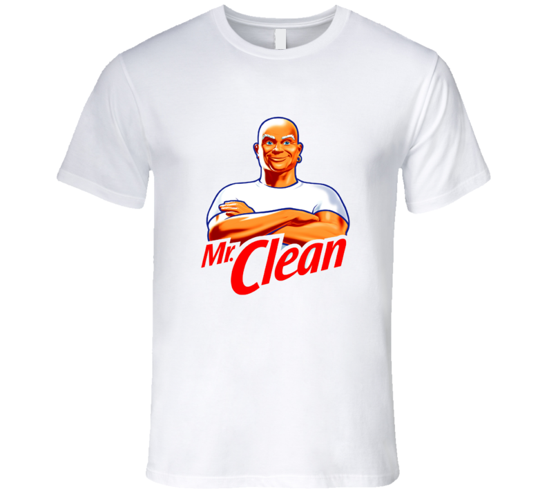 Mr. Clean Logo Costume White T Shirt cool