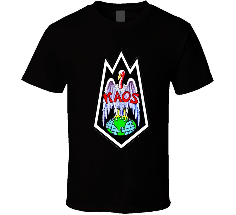 Get Smart KAOS logo Super Villans retro TV spy series Don Adams Agent 86 Maxwell Smart T Shirt