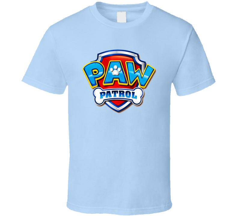 Paw Patrol Cartoon Dogs Kids TV Show Logo T Shirt