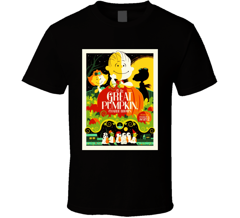 It's the Great Pumpkin, Charlie Brown Peanuts Cartoon Poster T Shirt