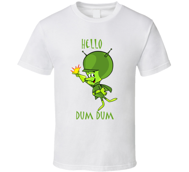 The Great Gazoo Hello Dum Dum The Flintstones Retro T Shirt