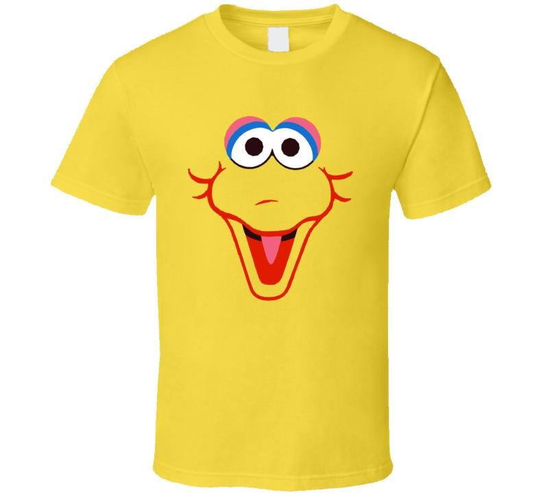 Big Bird Sesame Street Face Cool T Shirt