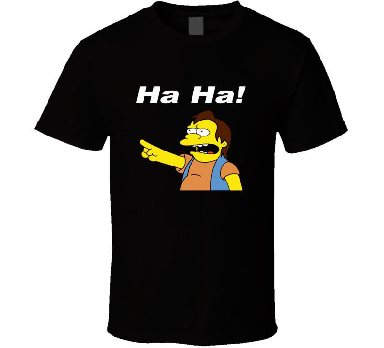 Simpsons Ha Ha funny T Shirt