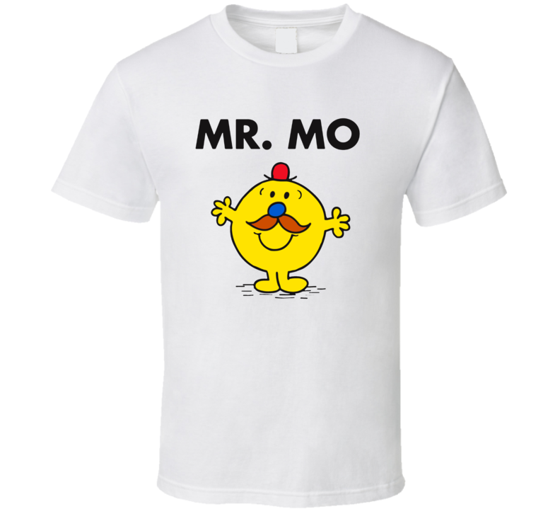 Mr Mo Character From Mr Men Book Series Fan T Shirt