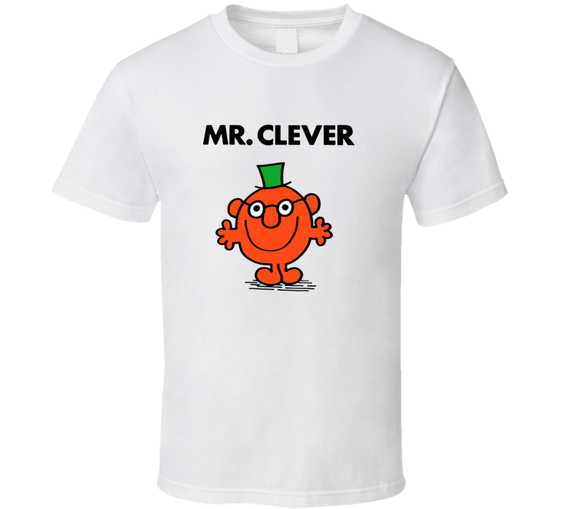 Mr Clever Character From Mr Men Book Series Fan T Shirt