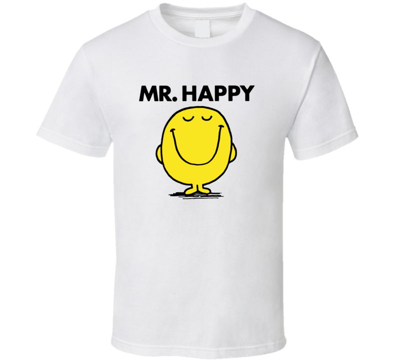 Mr Happy Character From Mr Men Book Series Fan T Shirt