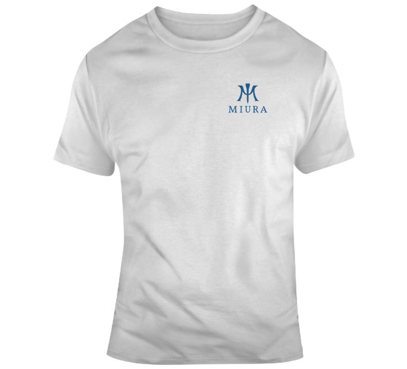 Miura Golf Logo Blue T Shirt