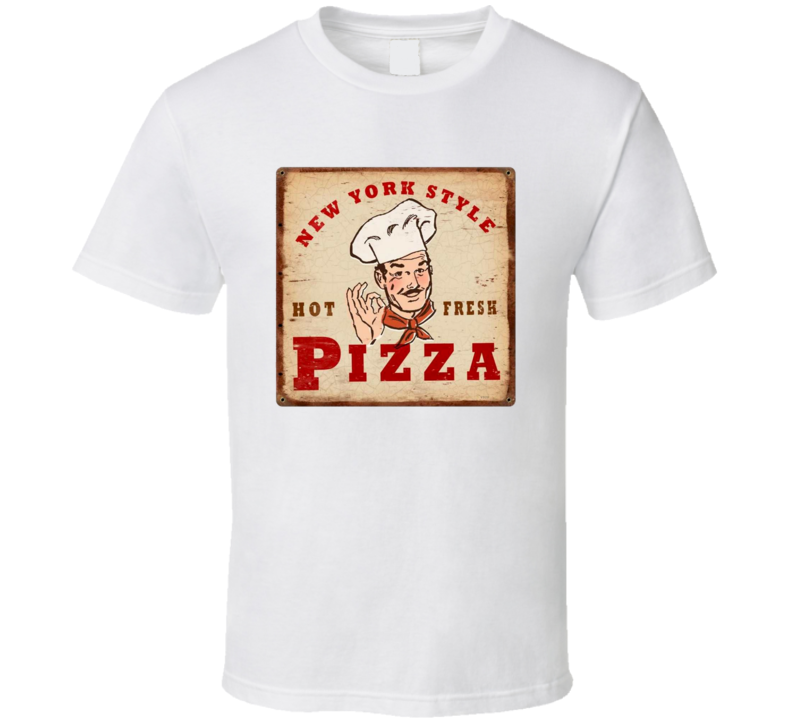 New York Style Pizza Classic Logo T Shirt
