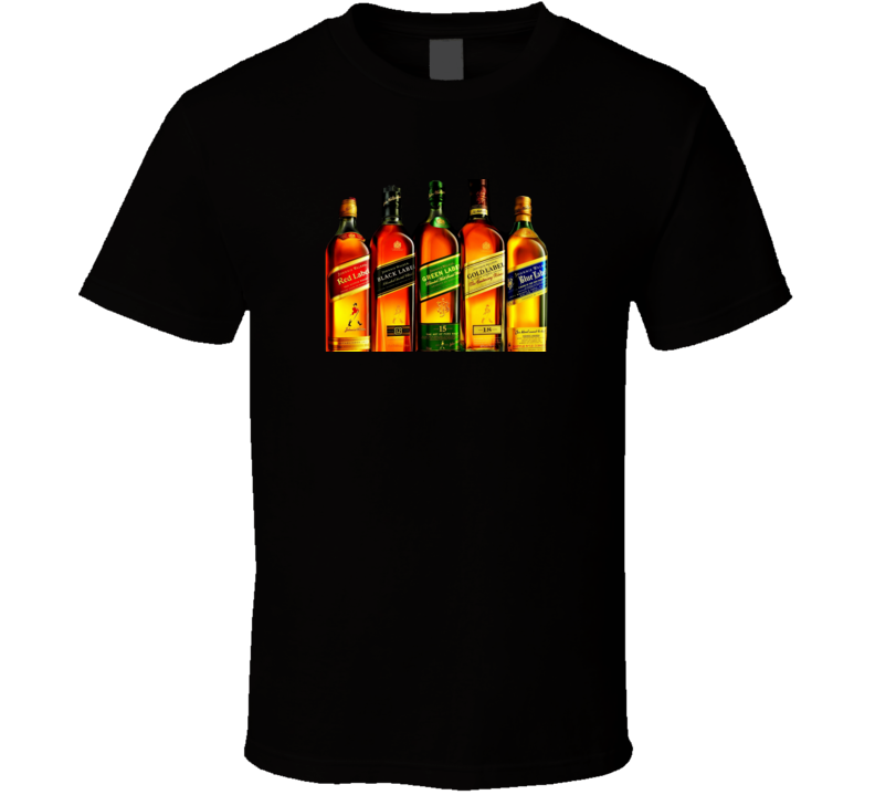 Whiskey Johnnie Walker Collection Alcohol Booze Tshirt