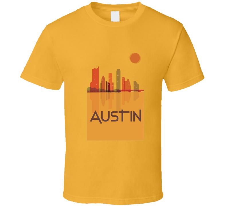 Austin Texas City Side Art Tshirt