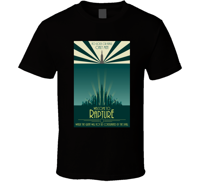 Bioshock Welcome To Rapture Poster  Cool Video Game Tshirt