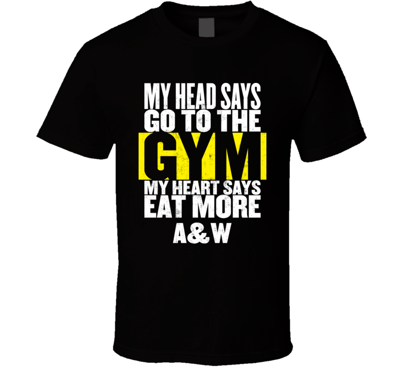 My Heart Says Eat More AW Funny Food Gym T Shirt