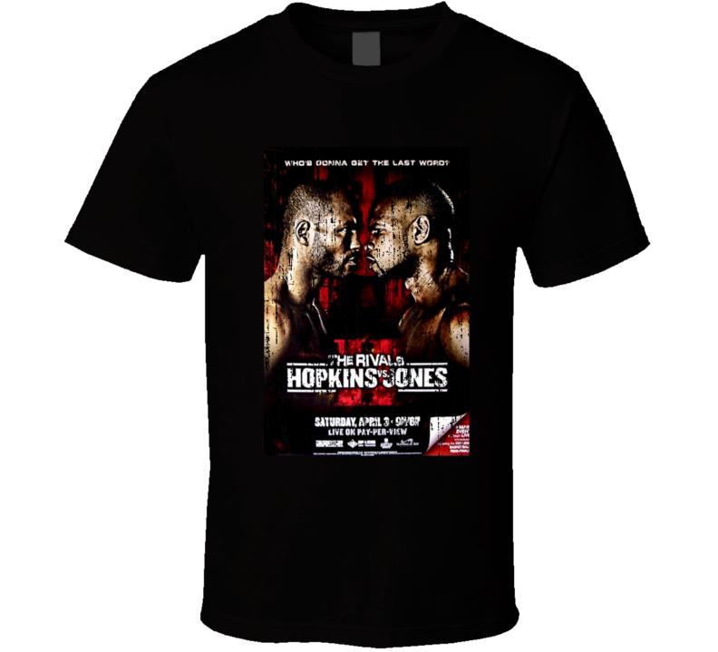 The Rivals Hopkins VS Jones Boxing Poster Tshirt