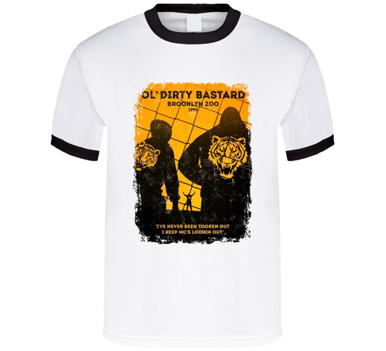 ODB Old Dirty Bastard Brooklyn Zoo Wu Tang Clan 1995 Hip Hop Rap Music Tshirt