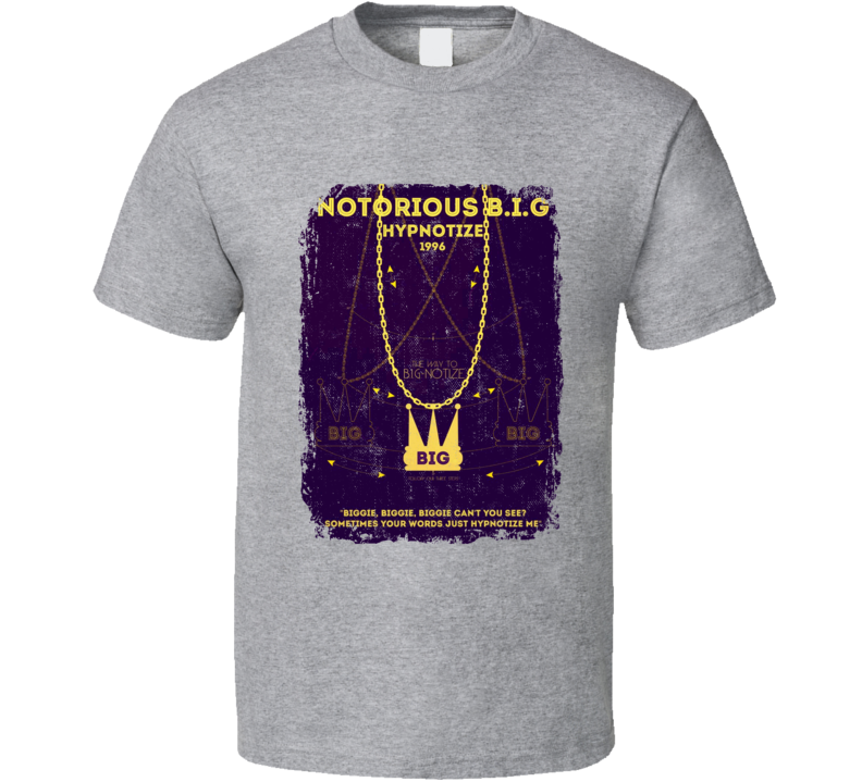 Notorious Biggie Smalls Hypnotize 1996 Hip Hop Rap Music Tshirt