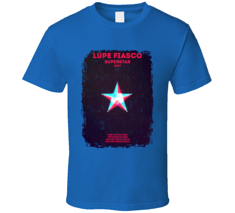 Lupe Fiasco Superstar 2007 Rap Hip Hop Music Tshirt