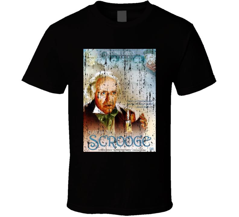Scrooge Christmas Movie Poster Alastair Sim T Shirt