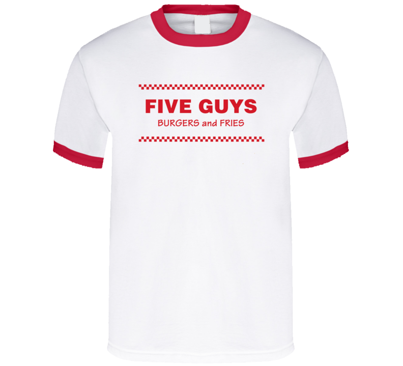 Five Guys Burgers And Fries Restaurant Logo T Shirt