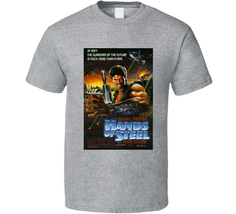 Hands Of Steel Daniel Greene John Saxon Classic 80s Movie Poster T Shirt