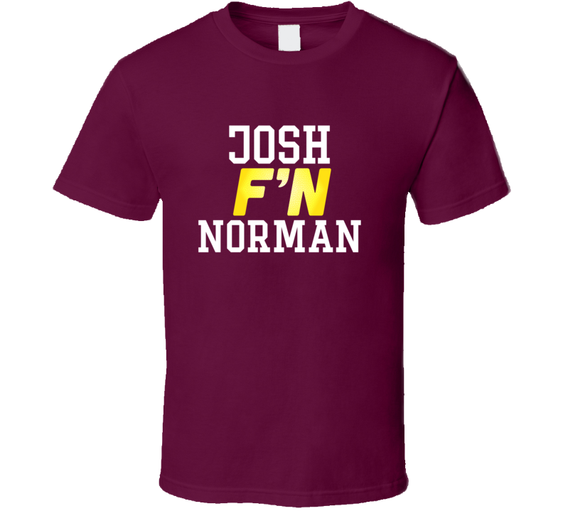 Alstyle Josh Fn Norman Washington Football Funny Player T Shirt Unisex Tshirt